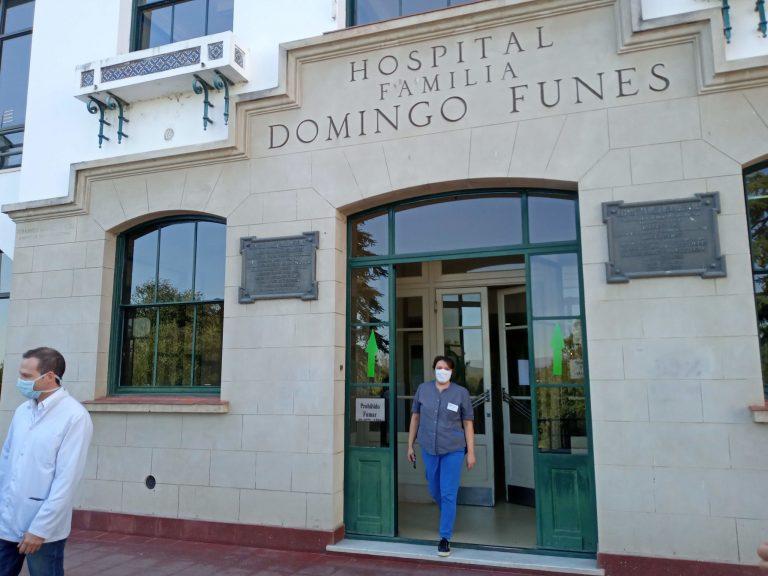 Coronavirus: Se ocuparon la mitad de las camas del Hospital Funes
