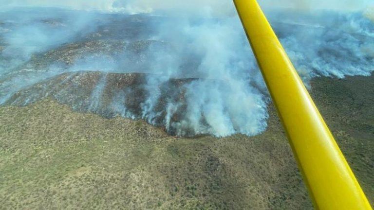 Un centenar de bomberos luchan en un gran incendio en Tulumba