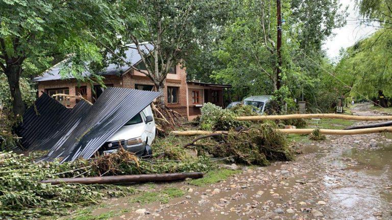 Un fuerte temporal causa desastres en Huerta Grande, La Falda y Villa Giardino