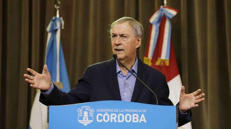 Schiaretti anunciará las nuevas restricciones ante la suba de casos en Córdoba