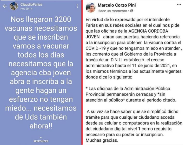 En La Cumbre la Agencia Córdoba Joven abrió sus puertas pese a las disposiciones del Gobierno