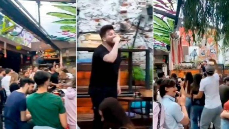 Dos contagiados en el bar donde cantó Damián Córdoba